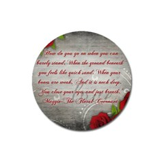 Maggie s Quote Magnet 3  (round) by AuthorPScott