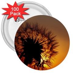 Dandelion 3  Button (100 Pack) by Siebenhuehner