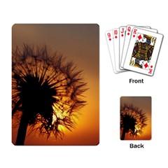 Dandelion Playing Cards Single Design by Siebenhuehner
