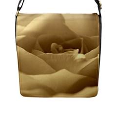 Rose  Flap Closure Messenger Bag (large) by Siebenhuehner