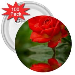 Rose 3  Button (100 Pack) by Siebenhuehner