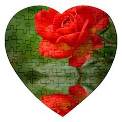 Rose Jigsaw Puzzle (heart) by Siebenhuehner