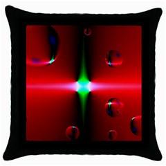 Magic Balls Black Throw Pillow Case by Siebenhuehner