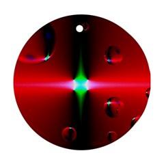 Magic Balls Round Ornament (two Sides) by Siebenhuehner