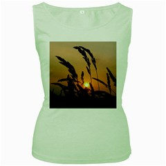 Sunset Womens  Tank Top (green) by Siebenhuehner