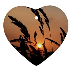 Sunset Heart Ornament (two Sides) by Siebenhuehner