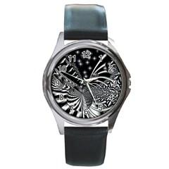 Space Round Metal Watch (silver Rim) by Siebenhuehner