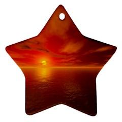 Sunset Star Ornament by Siebenhuehner