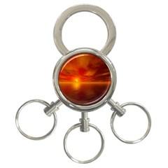 Sunset 3 Ring Key Chain