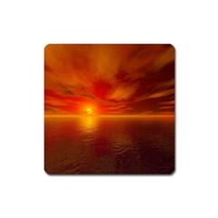 Sunset Magnet (square) by Siebenhuehner