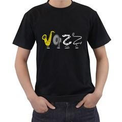 J A Z Z Mens' T Shirt (black) by PaolAllen