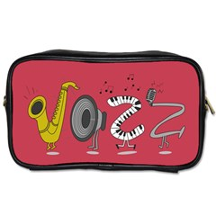 Jazz Travel Toiletry Bag (one Side) by PaolAllen2
