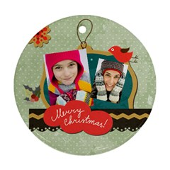 Merry Christmas By Merry Christmas   Round Ornament (two Sides)   It0rgtk72fw9   Www Artscow Com Back