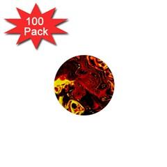 Fire 1  Mini Button Magnet (100 Pack) by Siebenhuehner