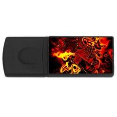 Fire 4gb Usb Flash Drive (rectangle) by Siebenhuehner