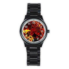 Fire Sport Metal Watch (black) by Siebenhuehner