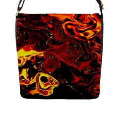 Fire Flap Closure Messenger Bag (large) by Siebenhuehner