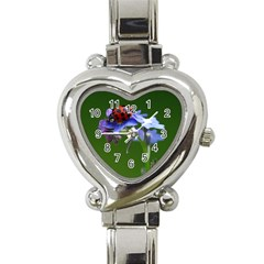 Good Luck Heart Italian Charm Watch  by Siebenhuehner