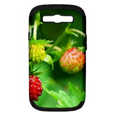 Strawberry  Samsung Galaxy S Iii Hardshell Case (pc+silicone)