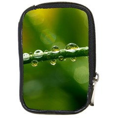 Waterdrops Compact Camera Leather Case by Siebenhuehner