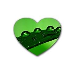Waterdrops Drink Coasters 4 Pack (heart)  by Siebenhuehner