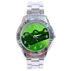 Waterdrops Stainless Steel Watch (men s) by Siebenhuehner
