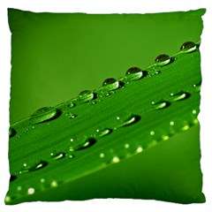 Waterdrops Large Cushion Case (two Sided)  by Siebenhuehner