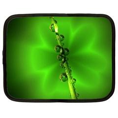 Waterdrops Netbook Case (large)