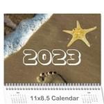 2015 Ocean theme Calendar - Wall Calendar 11  x 8.5  (12-Months)