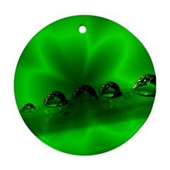 Drops Round Ornament by Siebenhuehner