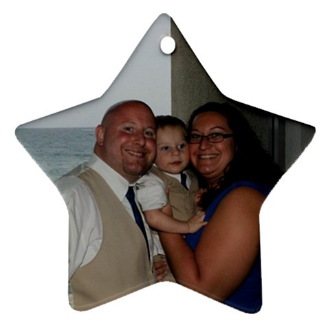 Family Pic 2013 By Kimberly   Ornament (star)   Fdiuin1xijcs   Www Artscow Com Front