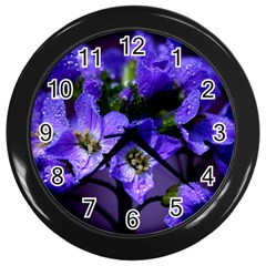 Cuckoo Flower Wall Clock (black) by Siebenhuehner
