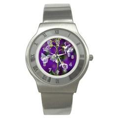 Cuckoo Flower Stainless Steel Watch (unisex) by Siebenhuehner