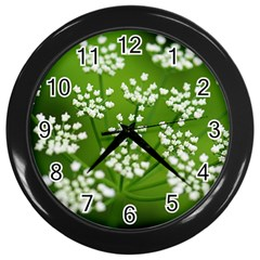 Queen Anne s Lace Wall Clock (black) by Siebenhuehner