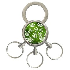 Queen Anne s Lace 3 Ring Key Chain by Siebenhuehner