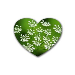 Queen Anne s Lace Drink Coasters 4 Pack (heart)  by Siebenhuehner