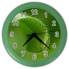 Leaf Wall Clock (color) by Siebenhuehner