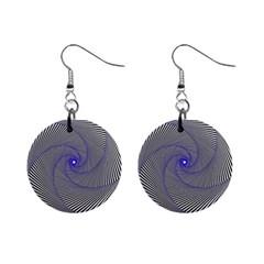 Hypnotisiert Mini Button Earrings by Siebenhuehner