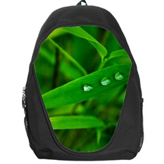 Bamboo Leaf With Drops Backpack Bag