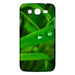 Bamboo Leaf With Drops Samsung Galaxy Mega 5 8 I9152 Hardshell Case  by Siebenhuehner