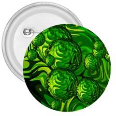 Green Balls  3  Button by Siebenhuehner