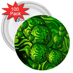 Green Balls  3  Button (100 Pack) by Siebenhuehner