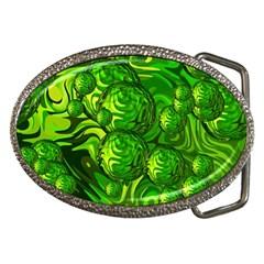 Green Balls  Belt Buckle (oval) by Siebenhuehner