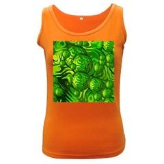 Green Balls  Womens  Tank Top (dark Colored) by Siebenhuehner