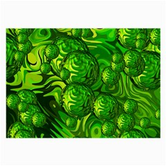Green Balls  Glasses Cloth (large, Two Sided) by Siebenhuehner