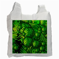 Green Balls  Recycle Bag (one Side)
