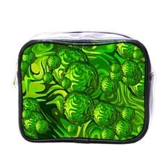 Green Balls  Mini Travel Toiletry Bag (one Side) by Siebenhuehner