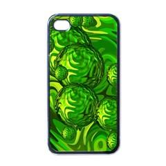 Green Balls  Apple Iphone 4 Case (black) by Siebenhuehner