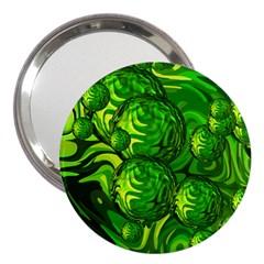 Green Balls  3  Handbag Mirror by Siebenhuehner