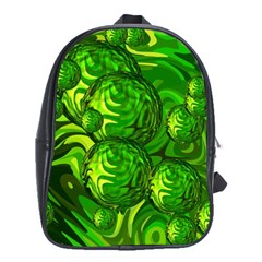 Green Balls  School Bag (xl) by Siebenhuehner